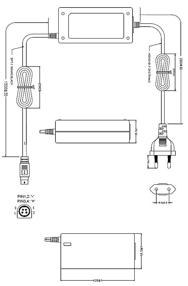 kc认证dc 12v6a开关电源适配器